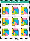 Iq Training Educational Math Puzzle For Kids And Adults With Basic Shapes - Triangle, Rectangle, Cir poster