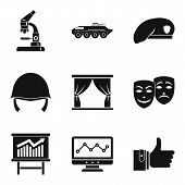 Labor Union Icons Set. Simple Set Of 9 Labor Union Icons For Web Isolated On White Background poster