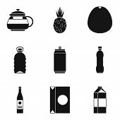 Can Of Beverage Icons Set. Simple Set Of 9 Can Of Beverage Icons For Web Isolated On White Backgroun poster