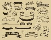 picture of hand drawn  - Sale icons set in vintage color scheme - JPG
