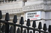 stock photo of prime-minister  - Downing Street road sign - JPG