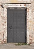 picture of uglich  - Metal door of old Orthodox church in Uglich Russia - JPG