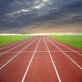 picture of race track  - Its a racing track for runners athlete sport - JPG