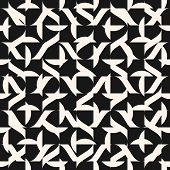 Abstract Vector Geometric Seamless Pattern With Different Shapes, Curved Lines, Repeat Tiles. Simple poster