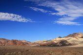 Постер, плакат: Пустыня под голубым небом