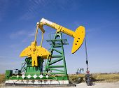 picture of oil drilling rig  - oil pump - JPG