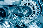 stock photo of fuel efficiency  - Car engine - JPG