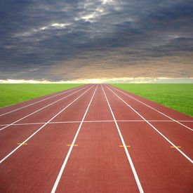 pic of race track  - Its a racing track for runners athlete sport - JPG