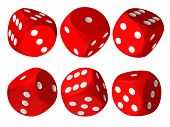 Set Of Red Casino Craps