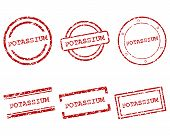 stock photo of potassium  - Detailed and accurate illustration of potassium stamps - JPG