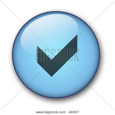 Aqua Web Button poster