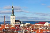 stock photo of olaf  - Old Tallinn cityscape panorama - JPG