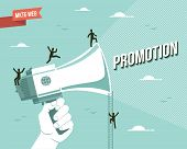 foto of market segmentation  - Web marketing promotion illustration - JPG