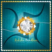 pic of rakhi  - beautiful rakhi background design art - JPG