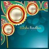 picture of rakhi  - vector indian festival rakhi on stylish background - JPG