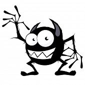 foto of ogre  - funny cartoon monster - JPG