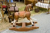 pic of flea  - A hobby horse or rocking horse found at a flea market in California - JPG