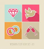 foto of ring-dove  - Wedding flat icon set web apps - JPG