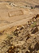 stock photo of masada  - View from ancient jewish fortress  - JPG