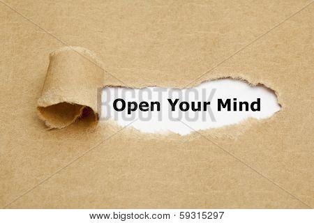 Open Your Mind Torn Paper poster