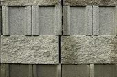 foto of cinder block  - Group of concrete blocks for construction industry - JPG