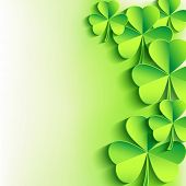 St. Patrick's Day Background With Green Leaf Clover