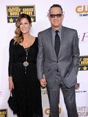 LOS ANGELES - JAN 16:  Tom Hanks & Rita Wilson arrives to the Critics' Choice Movie Awards 2014  on