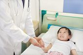 picture of ward  - Doctor Visiting Child Patient On Ward in the hospital - JPG