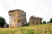 picture of stonehenge  - Mo Hin khao Stonehenge of Thailand at Chaiyaphum province Thailand - JPG