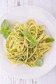 pic of pesto sauce  - spaghetti and pesto sauce - JPG