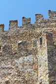 picture of mortar-joint  - Fragment of the old fortress wall with battlements - JPG