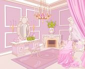 stock photo of palace  - Princess dressing room in a palace - JPG