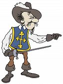 pic of muskets  - hand drawing of a french king musketeer - JPG