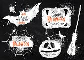 stock photo of monster symbol  - Halloween set - JPG
