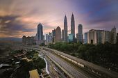 pic of klcc  - Kuala Lumpur is situated midway along the west coast of Peninsular Malaysia - JPG