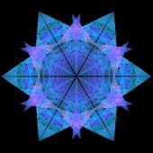 picture of symmetry  - snowflake shaped fractal with six ray symmetry - JPG