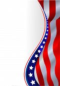 stock photo of american flags  - An American flag vertical background - JPG