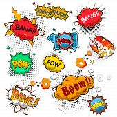stock photo of bubbles  - Comic speech bubbles vector on white background - JPG