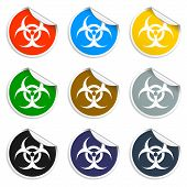 stock photo of bio-hazard  - Bio hazard icon  - JPG