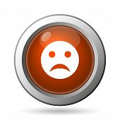 pic of angry smiley  - Sad smiley icon - JPG