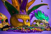 picture of carnivale  - Festive Grouping of mardi gras - JPG