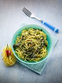 pic of turnips  - tagliolini with turnip top and hot chili pepper - JPG