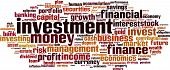 foto of accumulative  - Investment word cloud concept - JPG