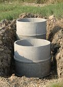 pic of septic  - Underground concrete septic tanks on construction site - JPG