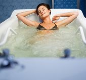 pic of hydro  - Woman having procedure in a  bathtub  - JPG