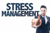 image of stress  - Business man pointing the text - JPG
