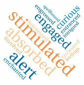 picture of stimulation  - Stimulated word cloud on a white background - JPG