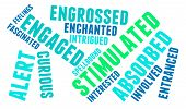 stock photo of stimulation  - Stimulated word cloud on a white background - JPG