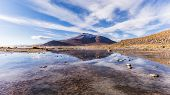 stock photo of incredible  - Scenery when touring the Incredible Uyuni Salt Flats In Bolivia - JPG