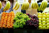 pic of stall  - stall with fruits on street market in Rome - JPG